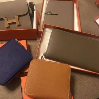 Brand New Hermes Wallet - Constance, dogon, silk in
