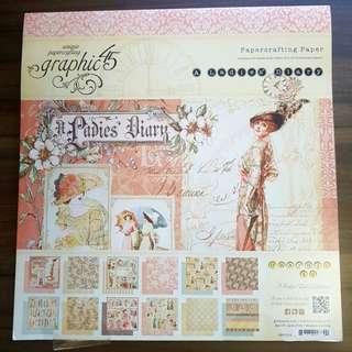 "Graphic 45 Paper Pad 12×12"" Ladies Diary"