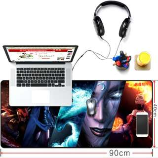 Gaming Mouse Pad Motif DOTA 400 x 900 mm - Multi-Color