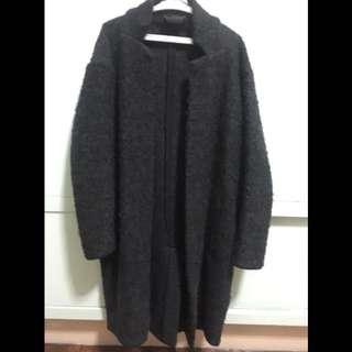 Zara Charcoal Gray Coat