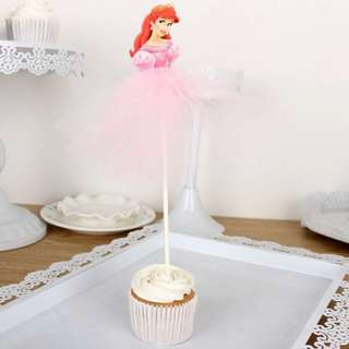 Little Mermaid Ariel Cake Cupcake Topper Party Decoration Birthday Party Disney Princess