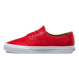 Vans Authentic Decon Premium Leather Racing Red
