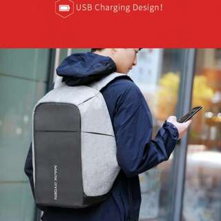 Mark Ryden Tas Ransel Anti Maling dengan USB Charger Port - MR5815ZS