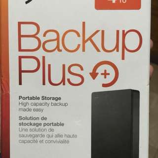 4T Seagate Backup Plus External Hard Drive