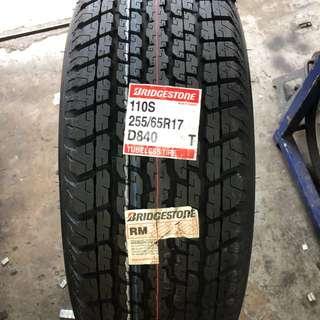 255/65/17 D840 Bridgestone Tyre