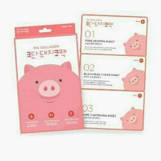 Holika Holika (PIG CLEAR BLACK HEAD 3-STEP KIT) -Single Sheet  -All Skin Type
