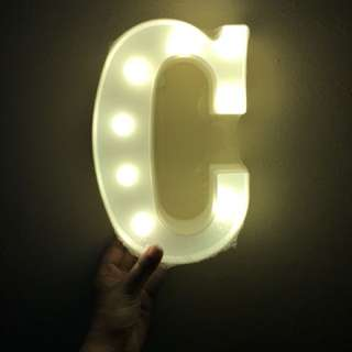 Letter led light standee