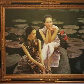 Chen Yanning inspired collectors Oil Painting - Water Lilies