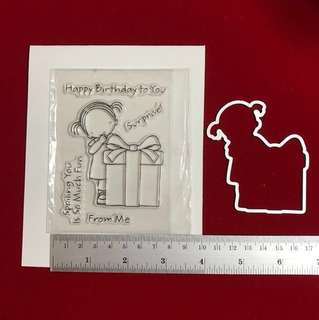 Birthday present Stamp & die scrapbooking