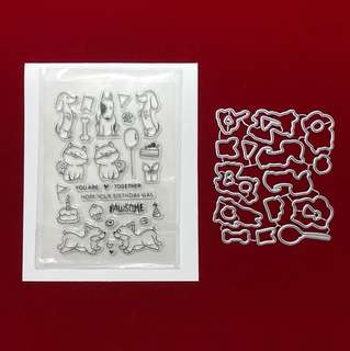 Animals birthday Stamp & dies scrapbooking