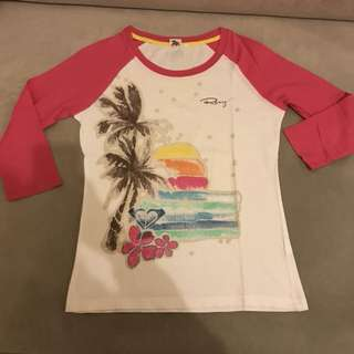 87%off Roxy pink and rainbow long sleeves top