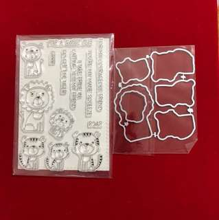 Encouraging Stamp & dies set scrapbooking
