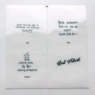 RED VELVET-2018 Message Sticker