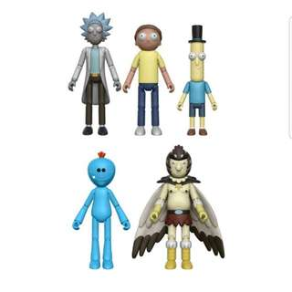 PO: Funko Rick and Morty - Rick, Morty, Mr. Poopy Butthole, Mr. Meeseeks, Bird Person & Snowball