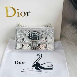 Dior Diorama Python Patent In Small Bag