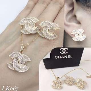 Chanel Set Necklace & Earrings