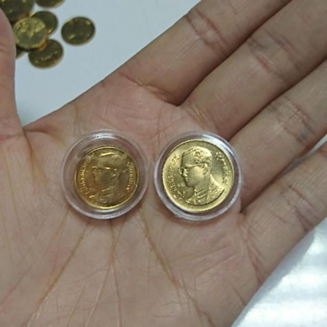 1987年泰國25分+50分硬幣錢幣2枚合售