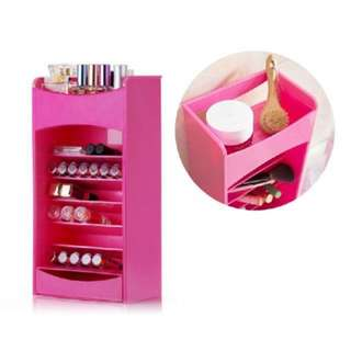 Cosmake Vertical Organizer in PINK ONLY