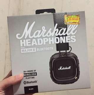 Marshall Bluetooth headphones(major II)