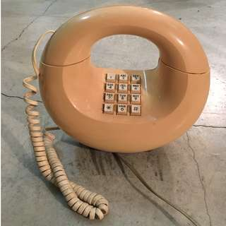 Vintage Beige Sculptura Western Electric Touchtone Phone
