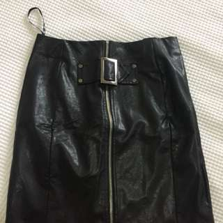 Misguided Faux Leather Skirt