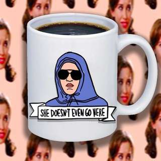 She doesn't even go here 11oz coffee mug with free gift box