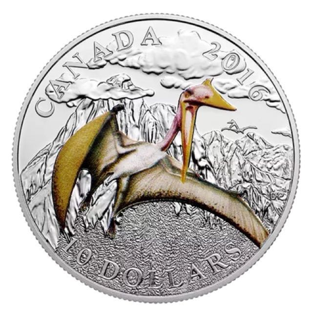 2016 $10 Pure Silver Coin-Day of the Dinosaurs:Terror of the Sky