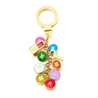 LOUIS VUITTON multicolor pastilles keychain bag charm