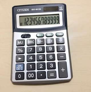 Citizen calculator 12 digits