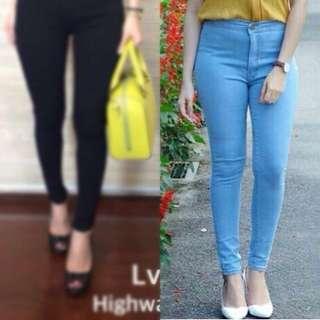 Punny HW Jeans Light Blue
