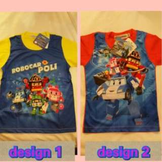 Promo!!! Authentic Robocar Poli T Shirt .. Cooling Type Brand New Size Available 100-130cm