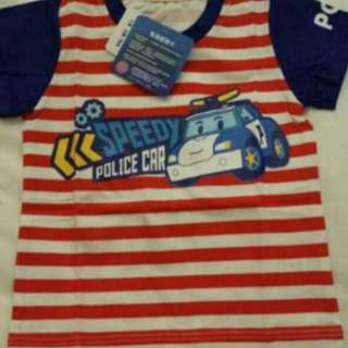 Instock authentic robocar polo t Shirt Brand New Size Available For 95-120cm