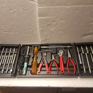 美國 Xcelite tool w/25w soldering iron Kit