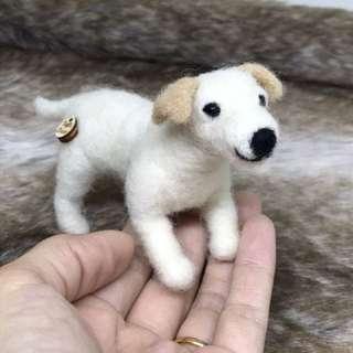 Needle felted Pet Dog, labrador, Fiber Art, Home Decor, Felted Animal, Needle Felting, Soft Sculpture, handmade gift, Interior decor,