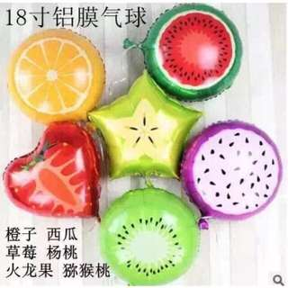 "5pcs 18"" Citrus Fruit Balloon"