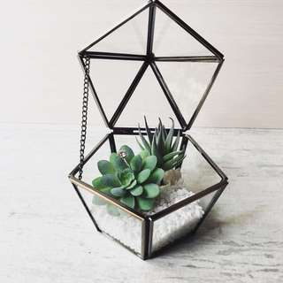 [Sellabrations] Rental Pentagon Glass Terrarium Ring Holder