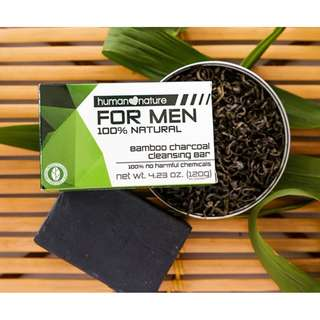 Bamboo Charcoal Cleansing Bar for Men 120by HUMAN❤NATURE