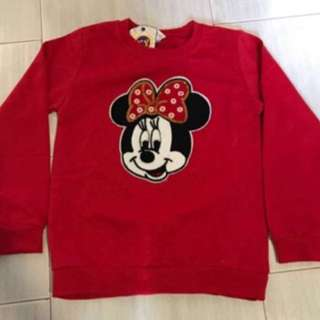 Minnie Mouse Long Sleeve Gd Quality See On Minnie Mouse Pic Brand New Size 140cm For 7-8yrs Old