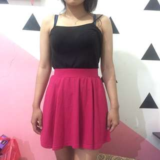 Rok flare pink