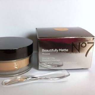 No7 Beautifully Matte Mousse Foundation in Natural Beige