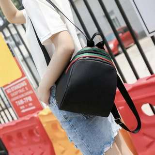 Mini school backpack Ready stock Material : pu Size : -  Colour : black