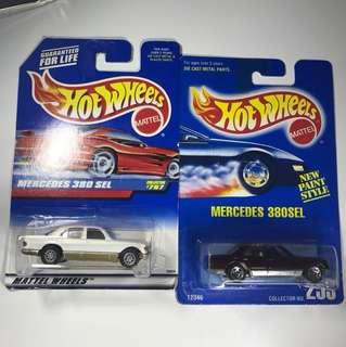中古hotwheels Mercedes Benz 380 SEL 及改裝品