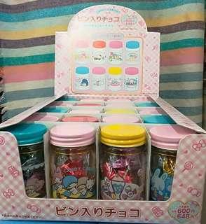 Sanrio 糖果玻璃瓶加糖果