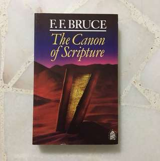 Christian Book: The Canon of Scripture (F.F. Bruce)