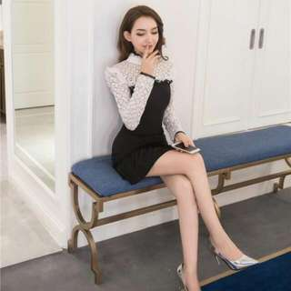 31DR95J9 - Black White Lace Winter (S,M,L)