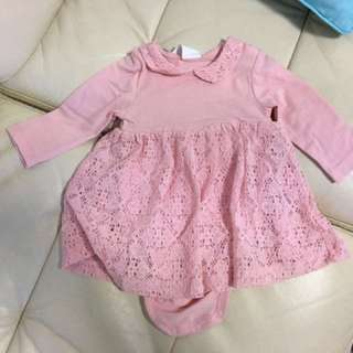 Brand new h&m dress and romper (1-2 months)