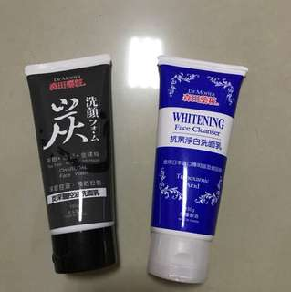 Dr morita charcoal & whitening face cleanser