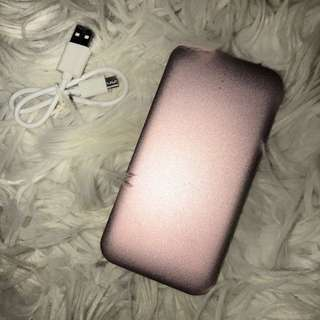 Rose gold Portable charger - phone