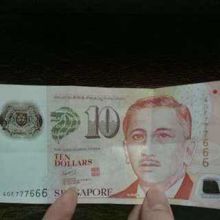$10 Note 777666