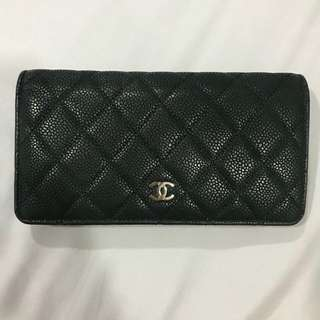 [PRICE REDUCED!!] Chanel Yen Wallet in Caviar (Black)